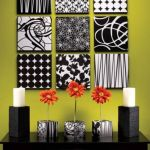 Black and white wall decoration