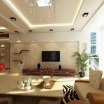 Chic Hanging Plates as Perfect Low Cost Living Room Wall Decoration