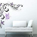 Flower Tendril Wall sticker