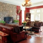Stone wall decoration for living room