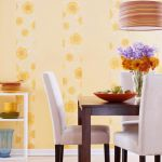 Striped wallpaper decoration