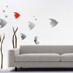 Living Room Aquarium Wall Decoration