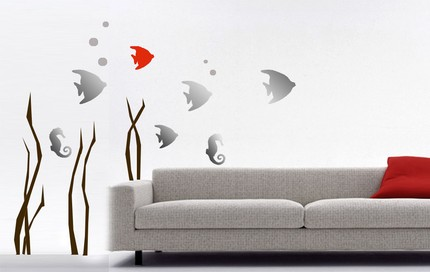 Aquarium Wall Decoration living room