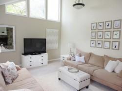Beige Modern Living Room Wall Art