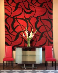 Fabric wall decoration living room