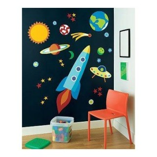 Galaxy wall decoration kids room