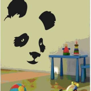 Panda wall art for kids room