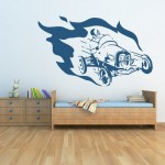 Racing Car wall decoration in Kids room