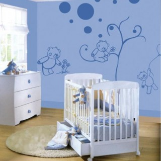 Soothing bear wall decoration kids room