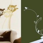 Fancy wall sticker decoration