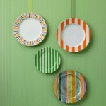 Wall Decoration with Colorful Crockery