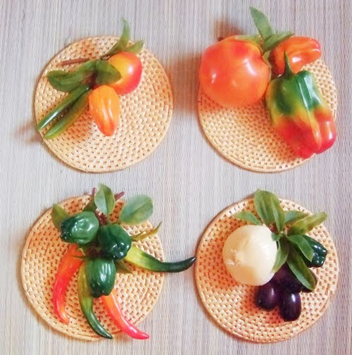 wall hangings vegetables Kicthen wall decor
