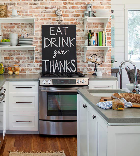 Kitchen Brick Wall Decoration - Wall Decoration Pictures ...