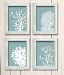 Coral Print wall art