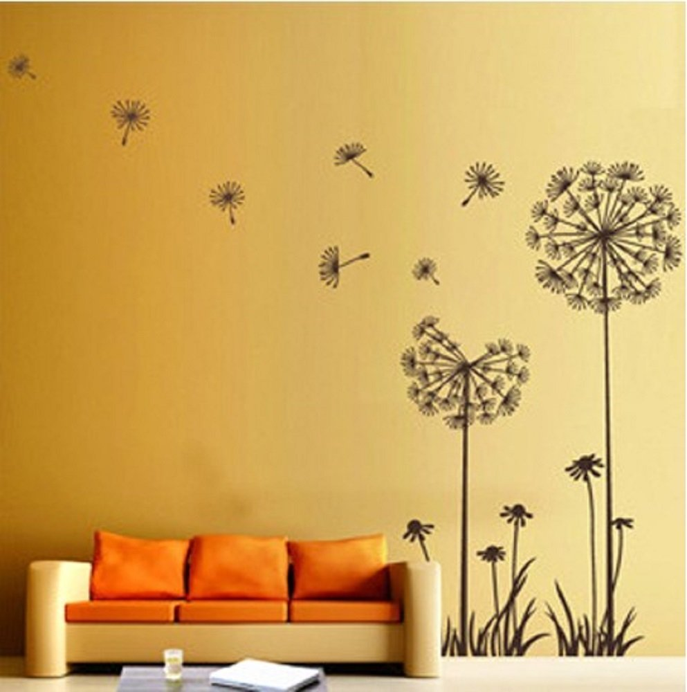 Dandelion Flower Wall Decoration - Wall Decoration Pictures Wall ...