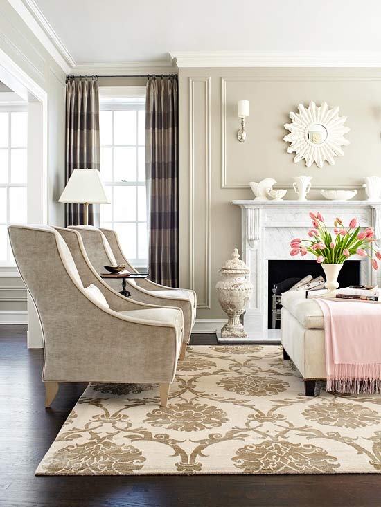 Neutral Living Room Decor. Fine living room wall decoration  Wall Decoration Pictures