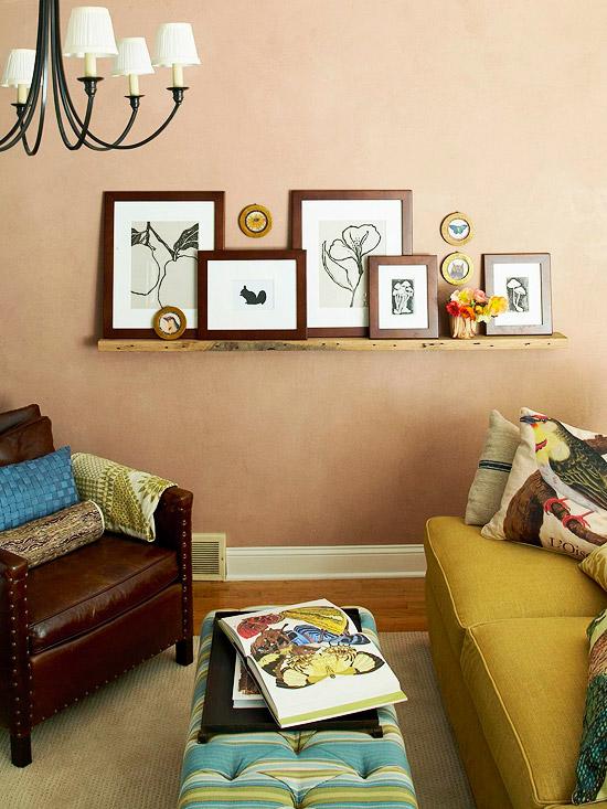 Gallery shelf wall decoration