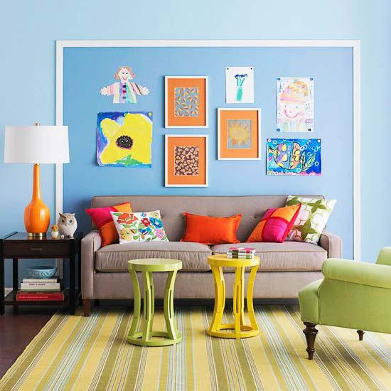 Kids art wall decoration