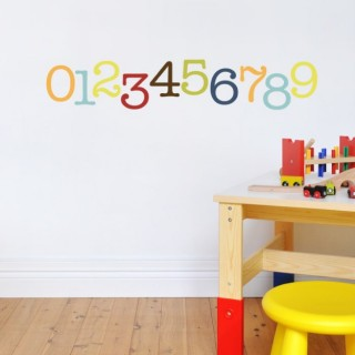 Number wall decoration for kids room