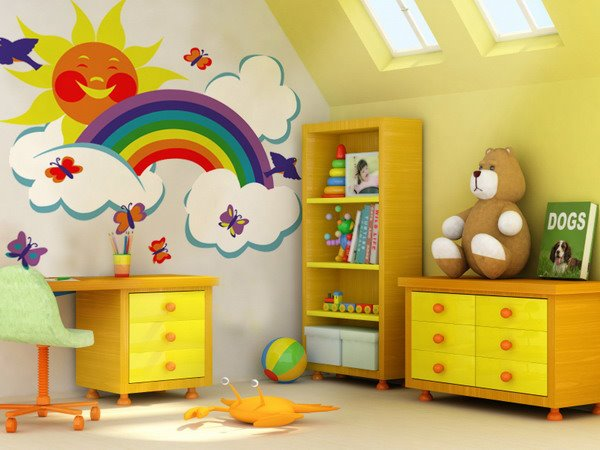 Rainbow wall decoration for kids room - Wall Decoration Pictures ...