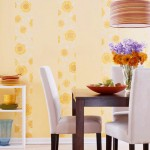 Striped wallpaper decoration