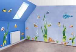 Underwater theme wall decoration