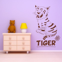 tiger wall art for kids room