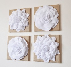3D flower wall art