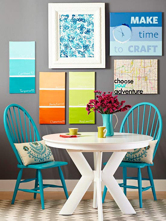 Colored Canvas wall art