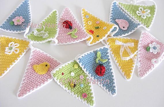 Crochet Bunting Garland wall decor