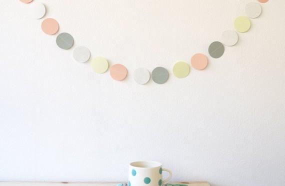 Multicolored garland wall decoration