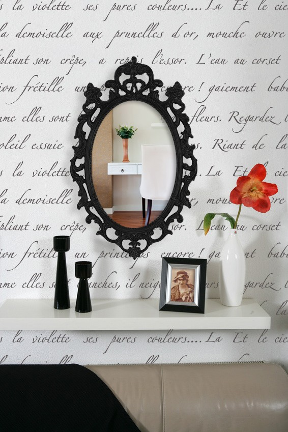 Typography mirror wall art