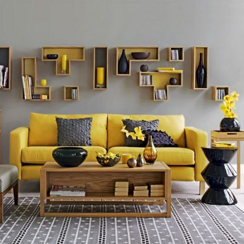 More Wall Decoration Ideas Contemporary Artsy Shelves For Living Room