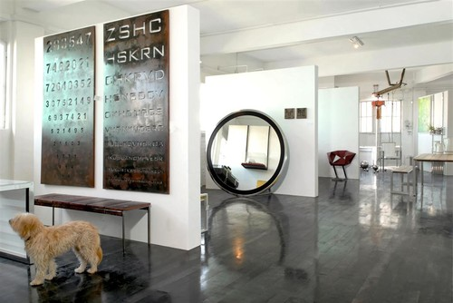 Modern Entry With Decorative Metal Wall Panels Part 50