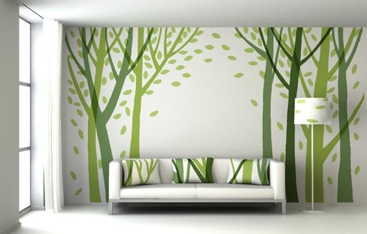 Creative and cheap wall decor ideas for living room wall for Cheap wall art ideas