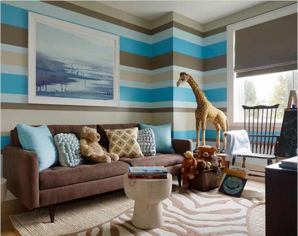Paint Decorating Ideas For Living Rooms Joyful Living Room Wall Decor With Stripes Assorted Colors .