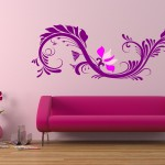 Modern and Stylish pink Wall Decoration in Living Room Display