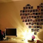 Wall Decoration by Using Photos and Stickers