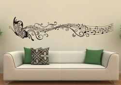 wall decoration butterfly music