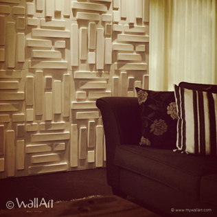 Redesign your wall with 3D bricks