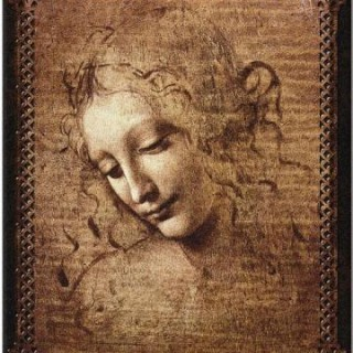Female Head tapestry by Leonardo Da Vinci