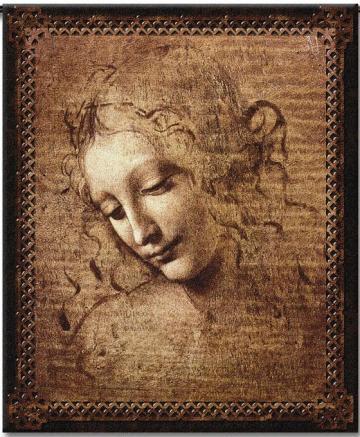 Female Head tapestry by Leonardo Da Vinci