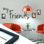 Friends Wall Sticker with Photo Frames