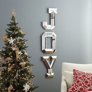 A set of 3 Mirrored Letters