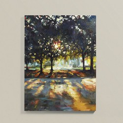 The day breaks stretched canvas art