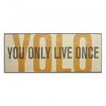 You Only Live Once Typography Wall Art
