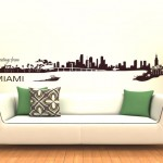Miami Skyline Wall sticker