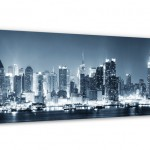 New York at Night Panorama Canvas print