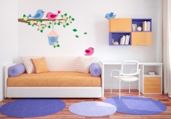 Branch with Brids Family Wall sticker