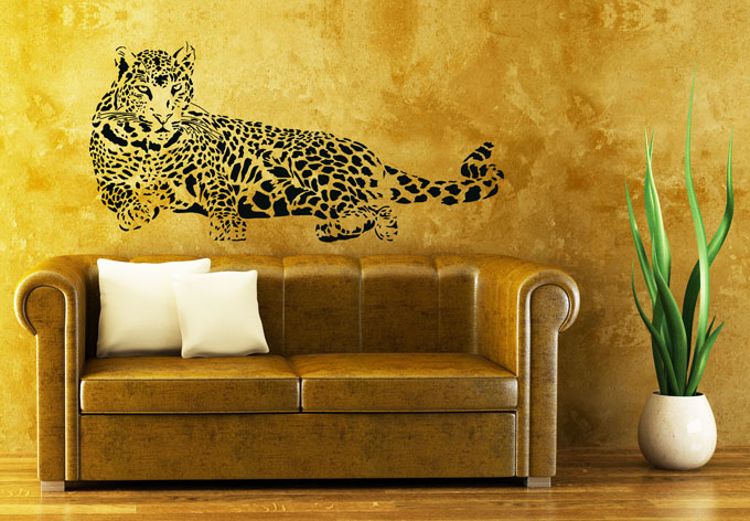 Lying Leopard Wall sticker